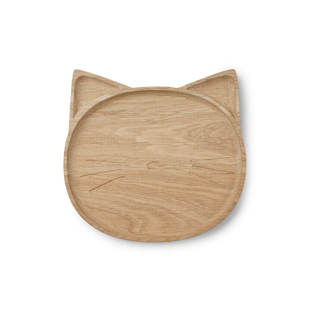 Liewood Wooden Cat Plate