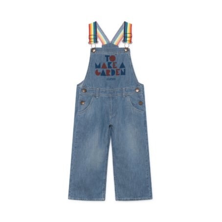 Bobo Choses Blue Geometric Denim Dungarees