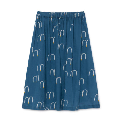 Bobo Choses Blue Birds Midi Skirt
