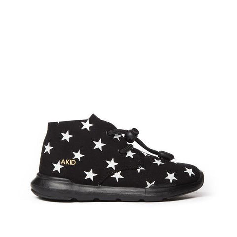 Akid  'Remington' Black Suede Stars Trainers