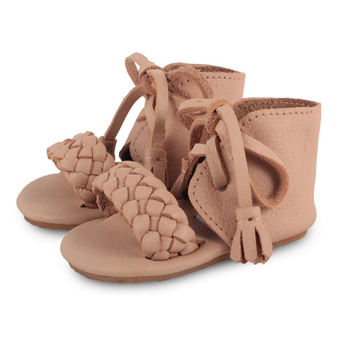 Donsje Coco Blush Plaited Leather Sandals