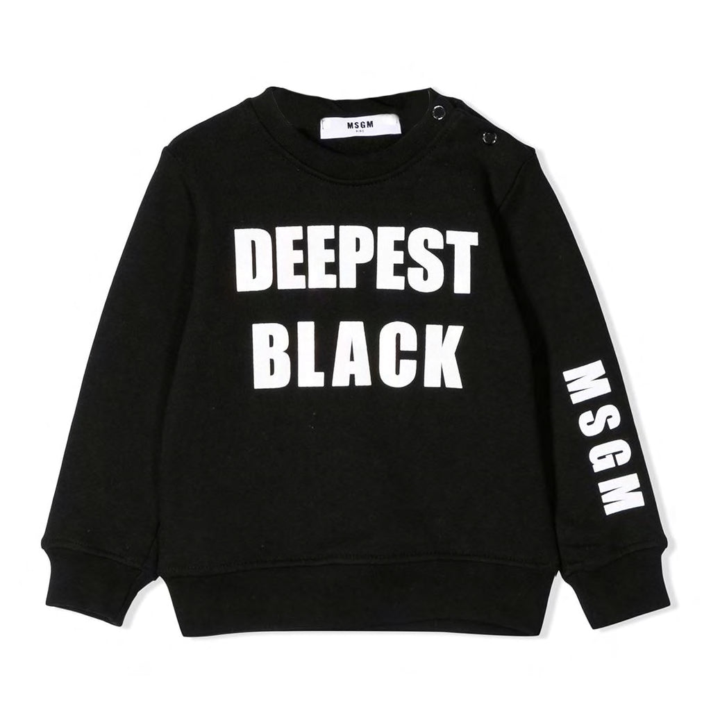 MSGM 'Deepest Black' Sweat