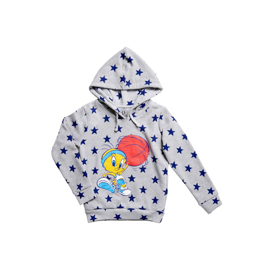 Eleven Paris 'Loper' Grey Tweety Pie Stars Hooded Sweat