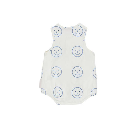 Tiny Cottons White 'Happy Face' Romper