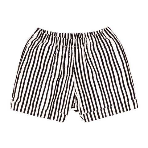 Noé & Zoë Monochrome Striped Shorts