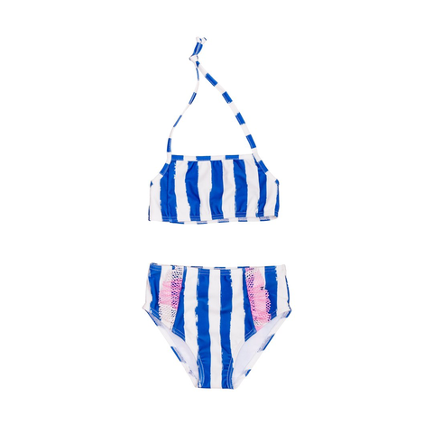 Noé & Zoë Blue Striped Bikini