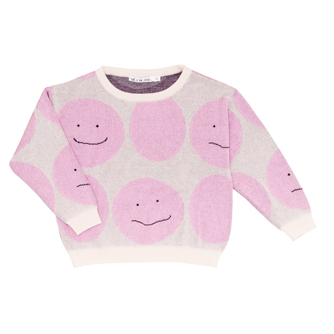 Noé & Zoë 'Pink Smiley' Knit