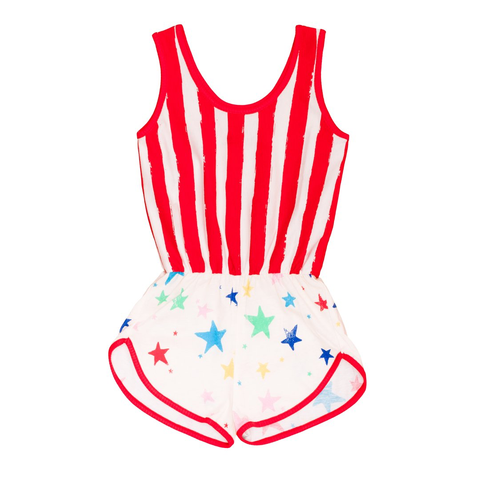 Noé & Zoë Red Striped 'Wonderwoman Suit' Playsuit