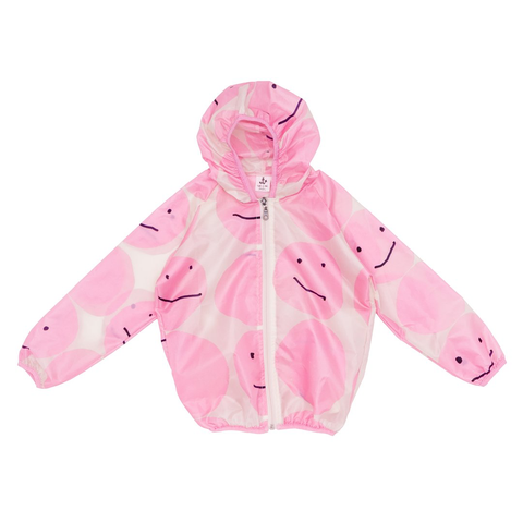 Noé & Zoë 'Pink Smiley' Windbreaker