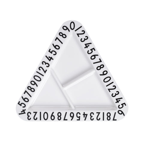 Design Letters Monochrome Triangular Snackplate