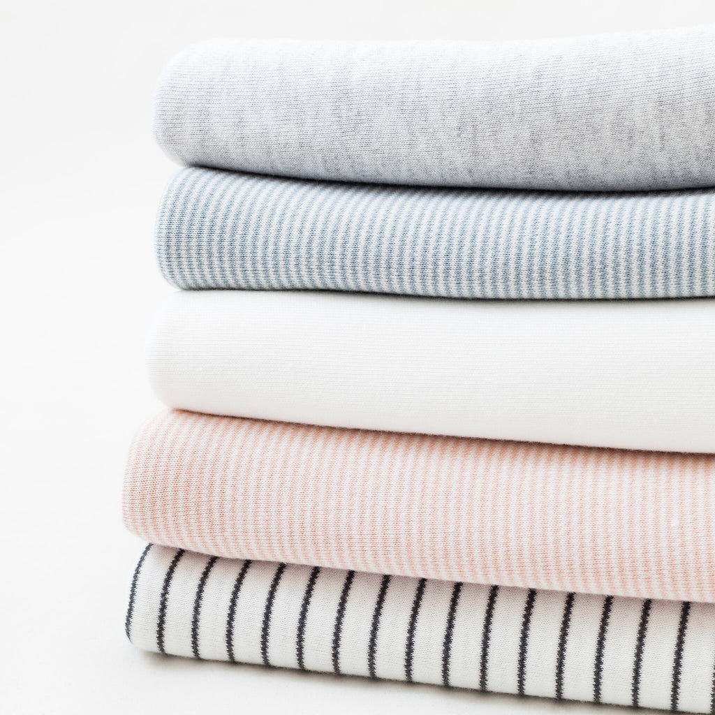 Baby Mori Grey Striped Blanket