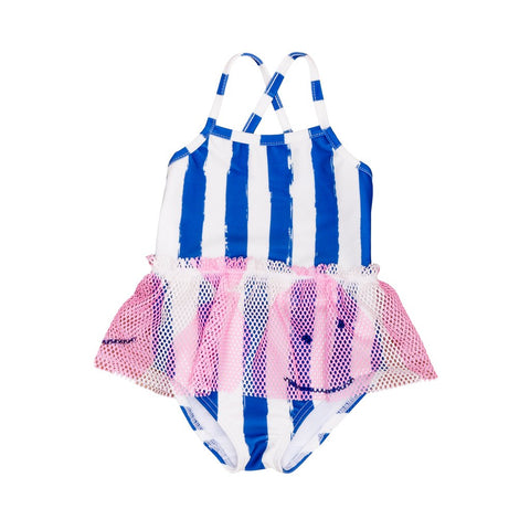 Noé & Zoë Blue Striped Swimsuit