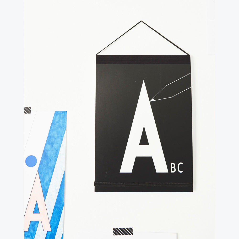 Design Letters Black Letters Paint Book