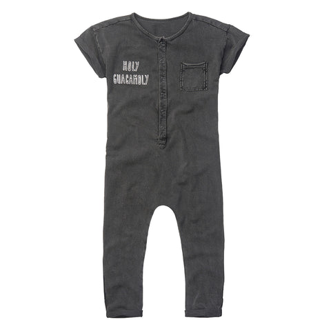 Sproet & Sprout 'Holy Guacamoly' Washed Black Jumpsuit
