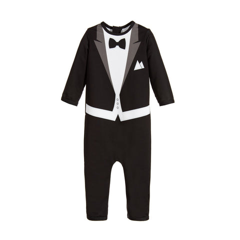 The Tiny Universe Tuxedo UV Swimsuit Black
