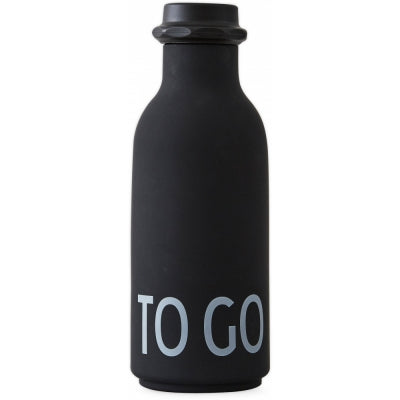 Design Letters To Go Black Drinking Bottle