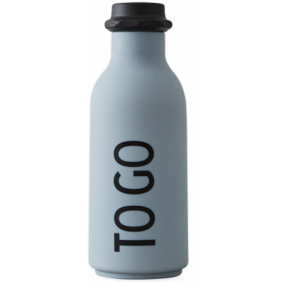 Design Letters To Go Grey-Blue Drinking Bottle