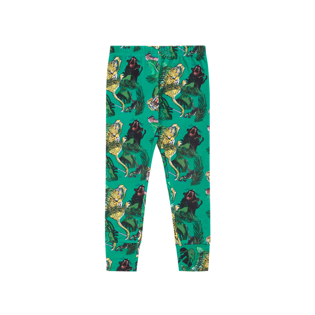 Vild x Puss Puss Green Printed Leggings