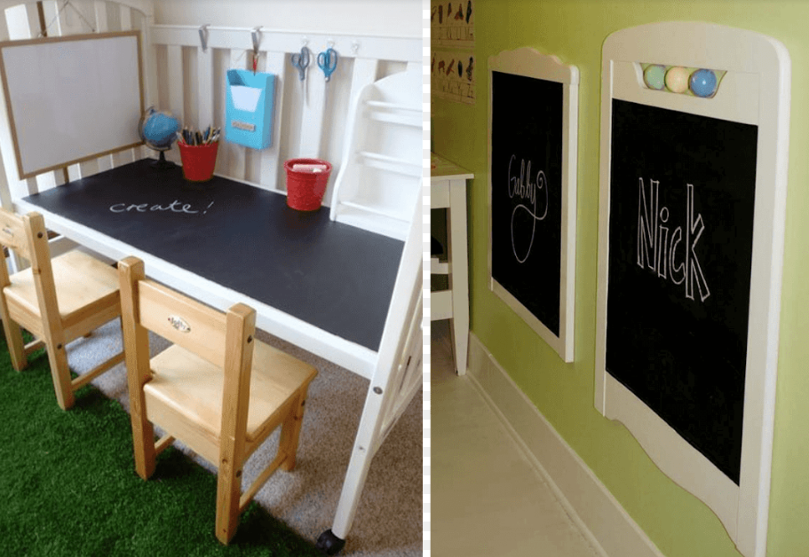 Desk and Chalkboard