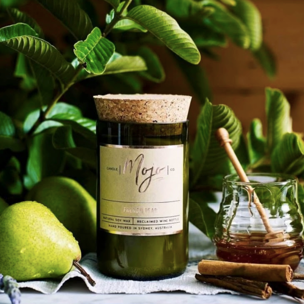 Mojo Soy Wax Candle – Handmade in Sydney, Australia from reclaimed wine bottles!