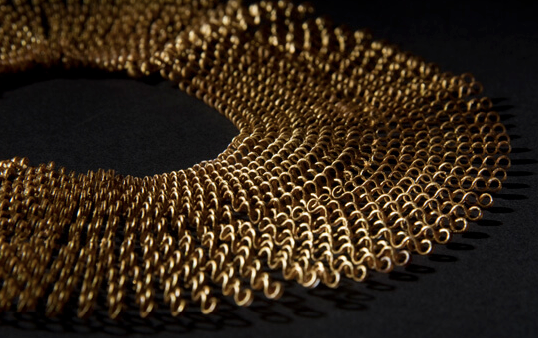 Plastic Gold Necklace