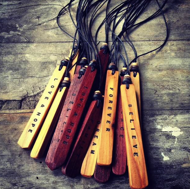 Recycled Timber Pendants