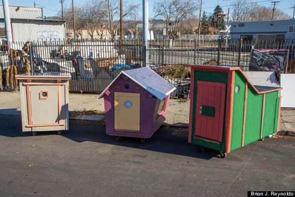 Upcycled Homes for the Homeless