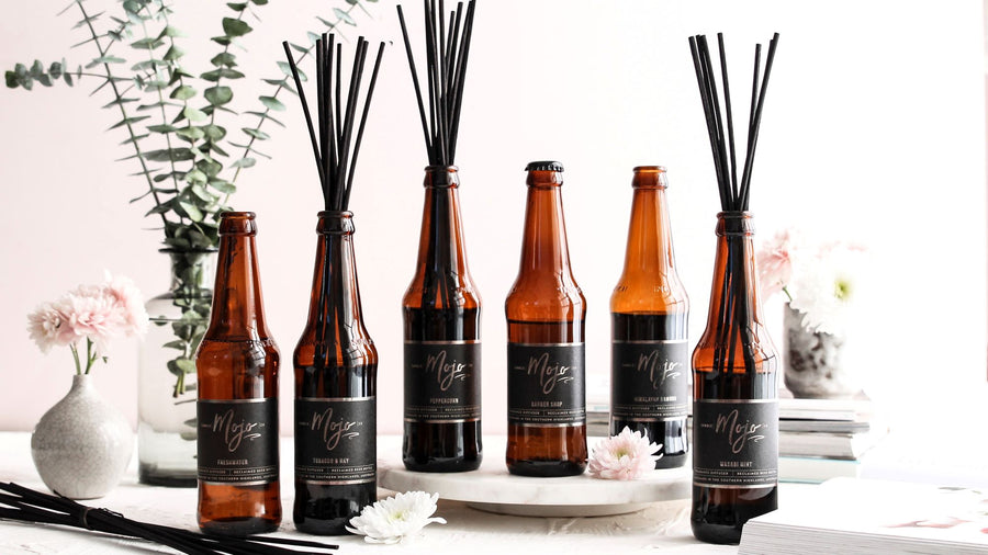 Reclaimed Beer Bottle Diffusers