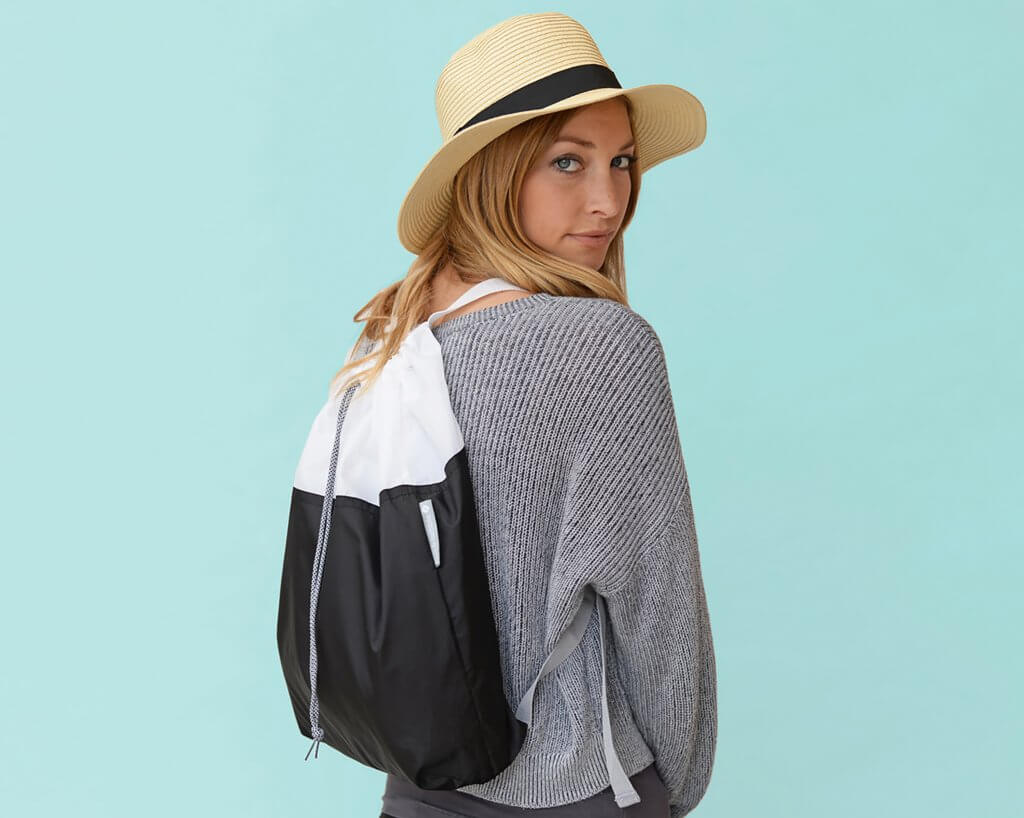 New Flip & Tumble Drawstring Backpack