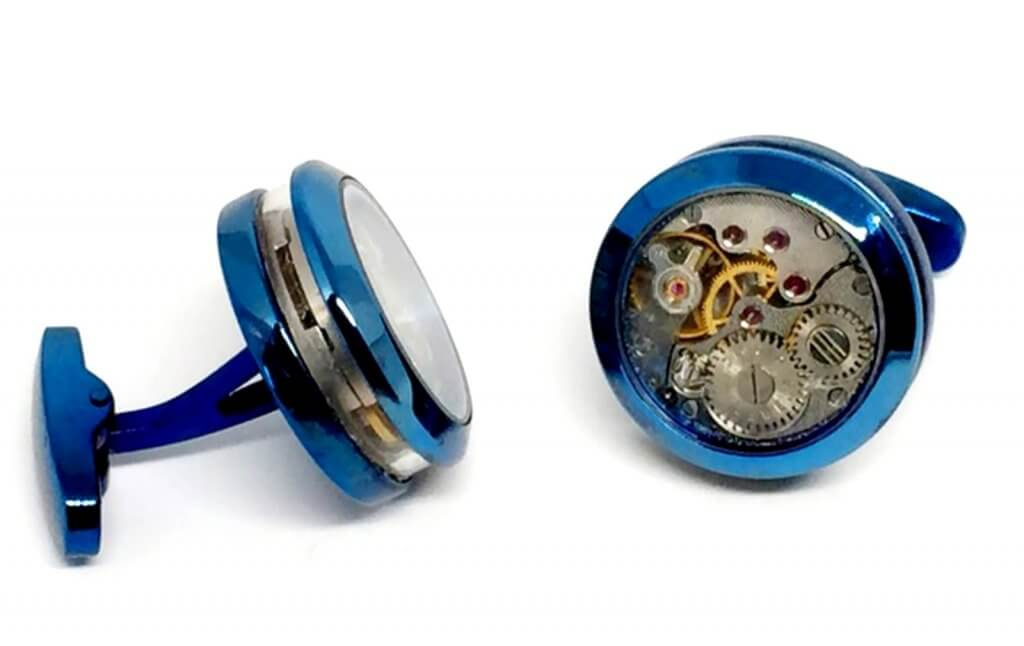 WATCH CAPSULE CUFFLINKS