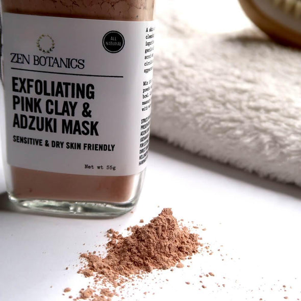 Zen Botanics Exfoliating Pink Clay Facial Mask - Upcycle Studio