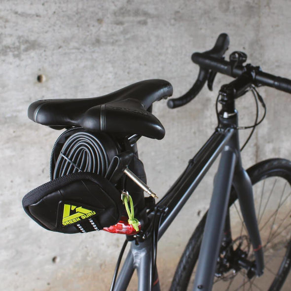 Green Guru Clutch Bike Saddle Bag - Upcycle Studio