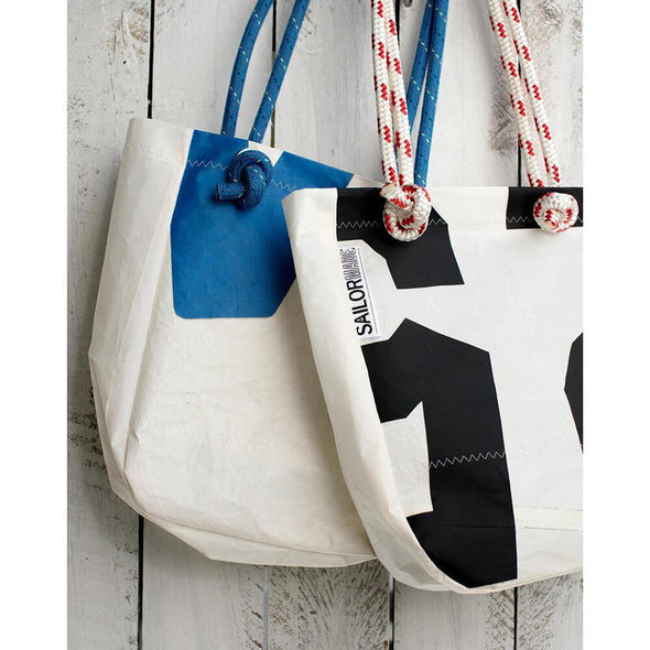 Reclaimed Sail Small Tote Bag - Upcycle Studio
