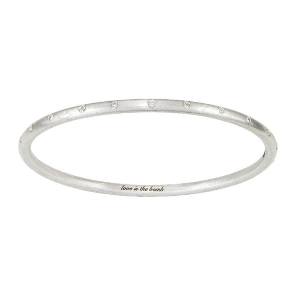 ARTICLE22 Love Is The Bomb 22 White Diamond Bangle Jewellery | Diamond Bangles | Jewellery | Bangles | Australian Jewellery | Jewellery Store | Jewellery shops | men's jewelry | Online Jewellery | Gifts | Presents | Xmas Presents | Birthday Present | Wedding Gift | Upcycle Studio
