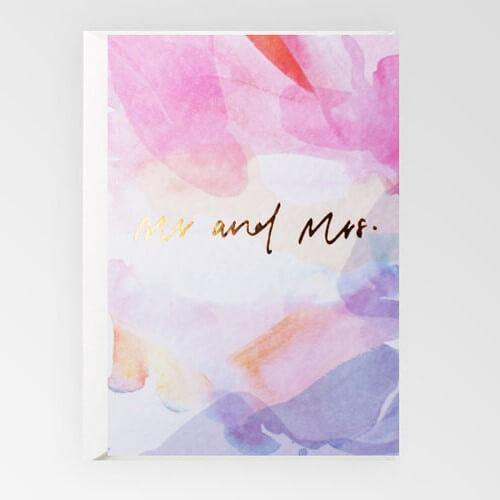 Rachel Kennedy Card -  Mr & Mrs  Wedding Card #2