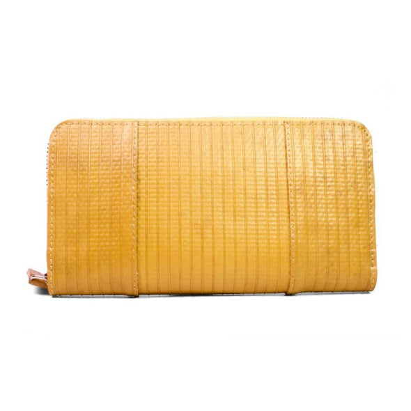 Elvis & Kresse Firehose Zip Clutch - Mustard | clutch bag | lv bags | handbags | Purses | Ladies purses | Purses in Australia | Online Purses | designer handbags | Upcycle Studio