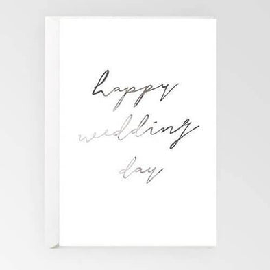 Rachel Kennedy Card -  Happy Wedding Day - Upcycle Studio
