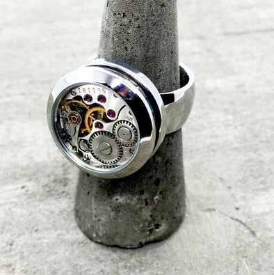 Time Flys Watch Capsule Ring - Upcycle Studio