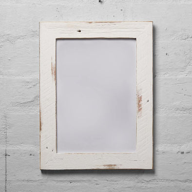 Mulbury White Washed Reclaimed Timber Photo Frame - Upcycle Studio
