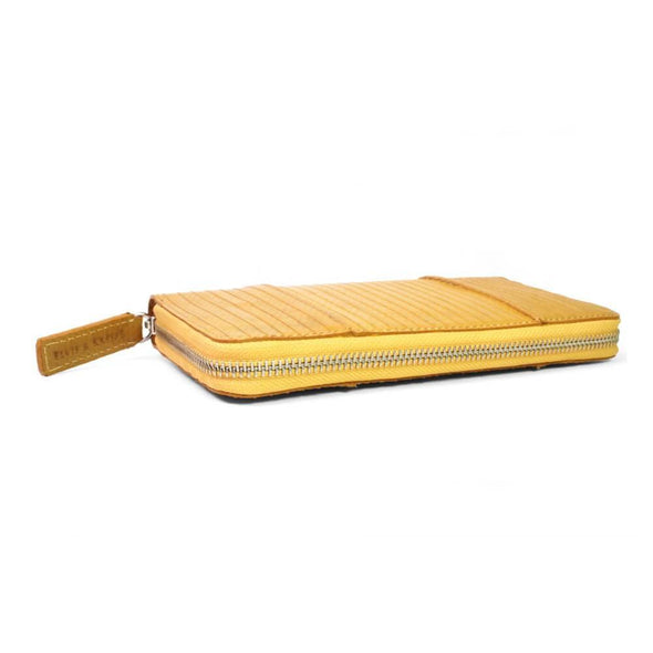 Elvis & Kresse Firehose Zip Clutch - Mustard | clutch bag | lv bags | handbags | Purses | Ladies purses | Purses in Australia | Online Purses | designer handbags | Womens Purses | Upcycle Studio
