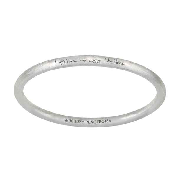 ARTICLE22 I AM LOVE I AM LIGHT I AM PEACE bangle | Bangles | Jewellery | Online Jewellery | Diamond Bangles | Jewellery in Australia | Upcycle Studio