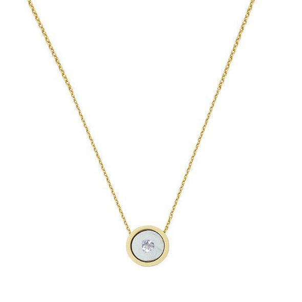 ARTICLE22 Around The Moon Necklace - Diamond + 14K Yellow Gold