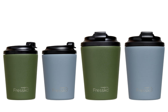 Fressko BINO 8oz - River | Re Usable Coffee Cup | reusable cup | Take away Coffee Cup | Cafe Coffee Cup | Best Reusable coffee cup | Refillable Coffee Cup | Eco Coffee Cup | Camping cups | Kids cups | Cups | Reusable tea cup | personalised coffee cup Australia | online reusable coffee cup Australia | custom coffee cups | Upcycle Studio