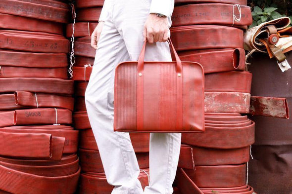 Elvis & Kresse Fire Hose Compact Briefcase - Upcycle Studio