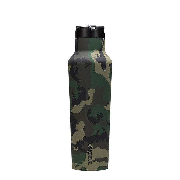 Corkcicle Woodland Camo Sports Canteen 600ml | Army Drink  bottle