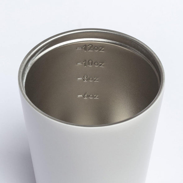 Fressko Camino Cup 12oz - White | Re Usable Coffee Cup | reusable cup | Take away Coffee Cup | Cafe Coffee Cup | Best Reusable coffee cup | Refillable Coffee Cup | Eco Coffee Cup | Camping cups | Kids cups | Cups | Reusable tea cup | personalised coffee cup Australia | online reusable coffee cup Australia | custom coffee cups | Upcycle Studio