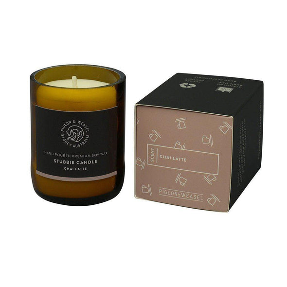 Pigeon & Weasel Chai Latte Candle - Small | online candles
