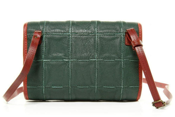 Elvis & Kresse Fire & Hide Crossbody Handbag-Forest Green - Upcycle Studio