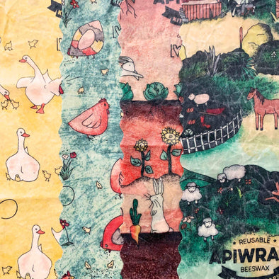 Lilys Farmyard - Apiwrap Reusable Beeswax Wraps - Upcycle Studio