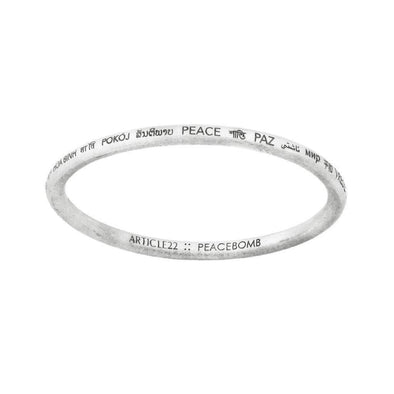 Article 22 Peace All Around Bangle --Standard Size - Upcycle Studio